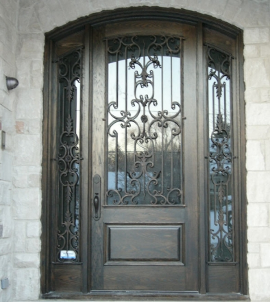 Toronto Wrought Iron Stained Glass Doors Inserts Iron