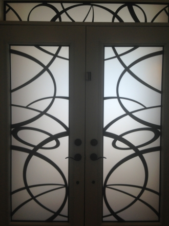 Toronto wrought iron stained glass doors inserts iron doors laser cut planetlyrics